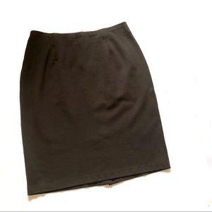 Eillen Fisher chocolate brown pencil skirt stretch